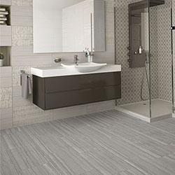 Гранитогрес за баня – имитация на мрамор, ламинат, дърво